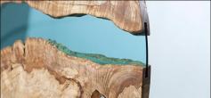 """美国设计师Greg Klassen创意""""河""""桌设计"""