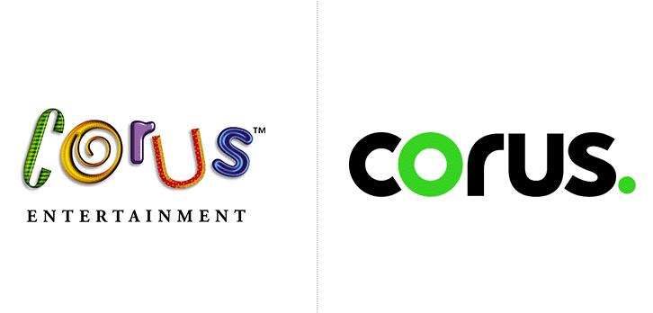 加拿大知名媒体娱乐公司Corus更换新LOGO
