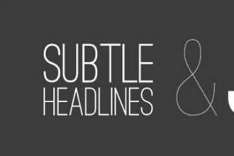 字体下载:适合制作大标题的40个漂亮英文字体