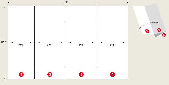 设计有意的折叠小册子(折页)