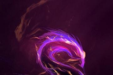 PS制作梦幻紫色火焰文字特效